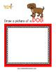 Read and Draw Single Word Vocabulary Printable: DOG