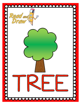 Read and Draw Single Word Vocabulary Printable: TREE