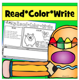 Read and Follow Directions - Read, Color, Write CVC
