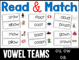 Read and Match Double Vowel Teams oa ow ou