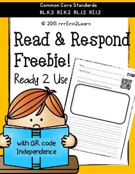Comprehension Kindergarten Reading Response