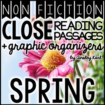 FREE! Non-Fiction Close Reads + Graphic Organizers for Flu