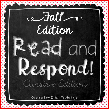 Read and Respond {October Cursive Edition}