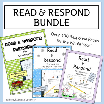 Read and Respond Printables Fall/Winter/Spring Bundle