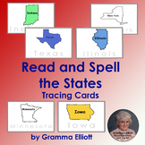 Read and Spell the States Tracing Cards