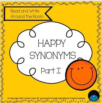 Read and Write Around the Room Happy Synonyms Part I