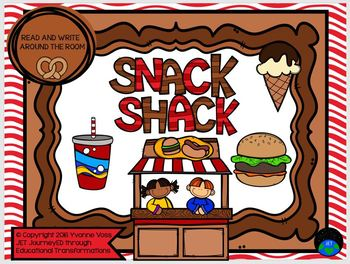 Read and Write Around the Room Snack Shack