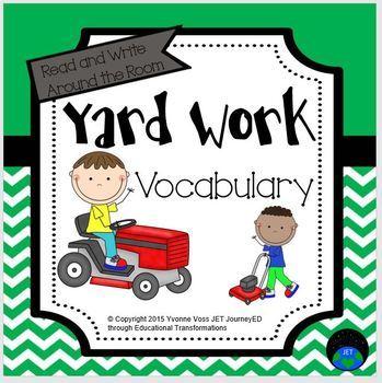Read and Write Around the Room Yard Work