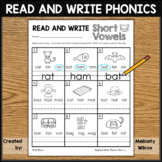Read and Write Phonics Practice Worksheets Short Vowel A E I O U