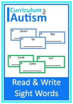 Autism Read & Write Sight Words, Special Education