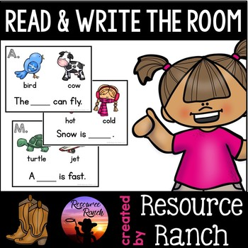 Simple Sentence Read and Write the Room