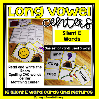 Literacy Center for Long Vowels - Silent E Words