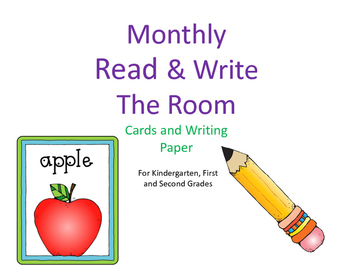 Read and Write the Room Monthly Cards and Writing Paper