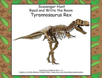 Tyrannosaurus Rex-Read and Write the Room - Scavenger Hunt