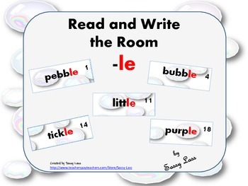 Read and Write the Room -le sound and spelling pattern Com