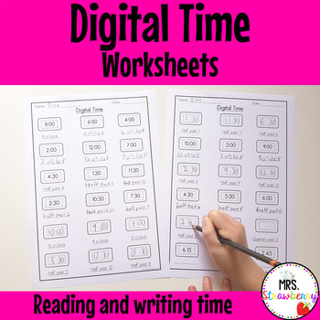 Read and Write the Time {Digital} Worksheets