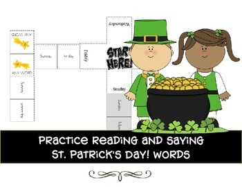 Read and match domino game with St Patrick's words