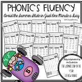 Summer Fluency Packet