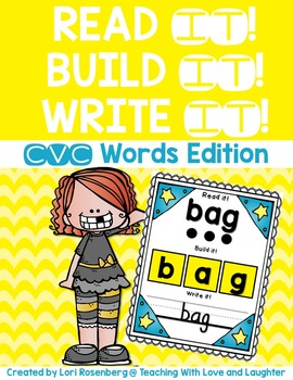 CVC Words {Read it! Build it! Write it!}