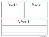 Read it, Build it, Write it! Reversible Board (Engl/Span)
