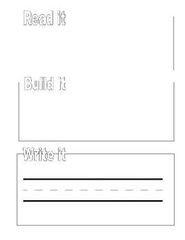Read it, Build it, Write it! Sight Word Mat