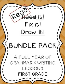 Read it! Fix it! Draw it! BUNDLE PACK, First Grade Grammar