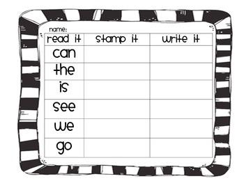 Read it. Stamp it. Write it.