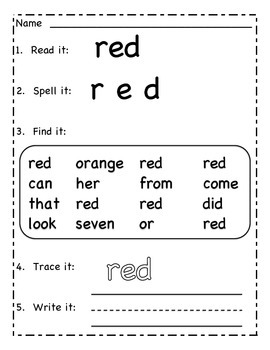 Read it Write It:  Color Words
