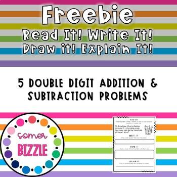 Read it! Write it! Draw it! Solve it! Word Problems Freebie