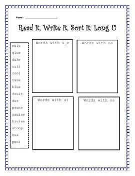 Read it, Write it, Sort it: Long U