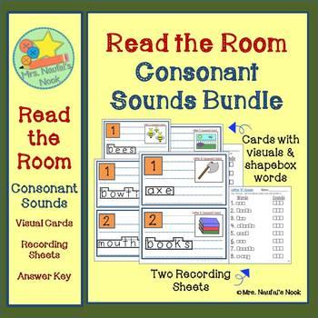 Consonant Sounds Read the Room Bundle