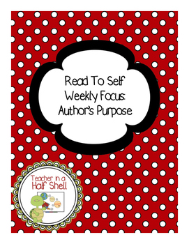 Read to Self-Author's Purpose