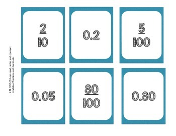 Read, write, and connect models of fractions and decimals