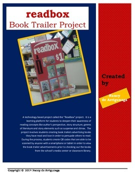 Readbox Book Trailer Book Report Project NEW & IMPROVED!