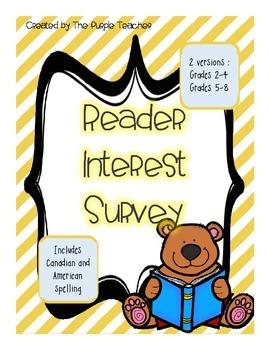 Reader Interest Surveys (2 versions)