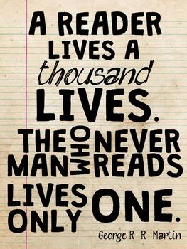 Reader Lives A Thousand Lives Poster 8.5x11
