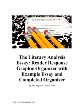 Reader Response Graphic Organizer, with Essay and Organize