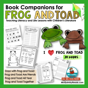 Reader Response Pages and Writing Prompts for Frog and Toa