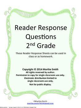 Reader Response Questions - Fiction