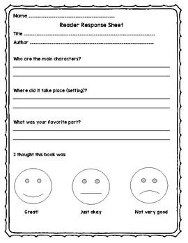 Reader Response Sheet