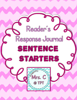 Reader's Response Journal Sentence Starters