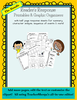 Reader's Response Printables & Graphic Organizers