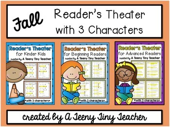 Reader's Theater with 3 Characters {Fall Bundle}