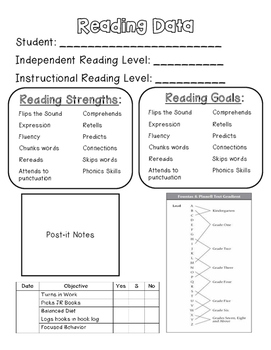 Reader's Workshop Data Collection Tool...FREEBIE!