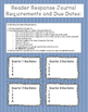 Reader's Response Journal Activity: Requirements and Due D