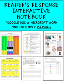 Reader's Response Interactive Notebook (Google Doc Formatt