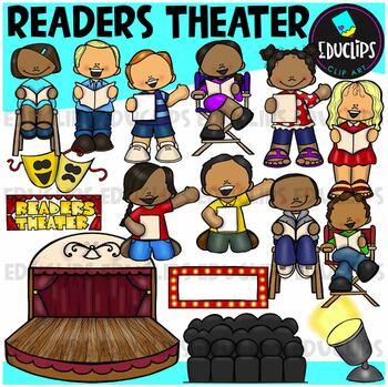 Readers Theater Clip Art Bundle {Educlips Clipart}