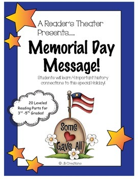 Reader's Theater: Memorial Day Message (leveled play for 3