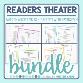 Readers Theater Bundle - 5 Scripts Based on Aesop's Fables