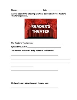 Reader's Theater Reflection